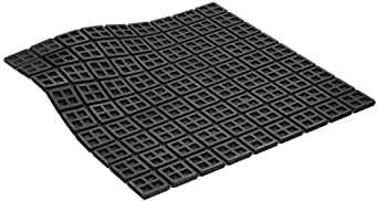 """Mason R18X18MSW Mini Super W Natural Rubber Vibration Isolation Pad, 18"""" Length x 18"""" Width x 3/8"""" Thick"""