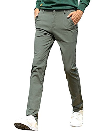 VEGORRS Mens Classic-Fit Wrinkle-Resistant Flat-Front Chino Pant