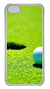 TYHde iPhone 5/5s Case,Golf green grass Polycarbonate Hard Case Back Cover for iPhone 5/5s Transparent ending