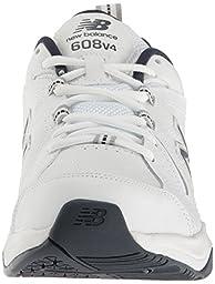New Balance Men\'s MX608V4 Training Shoe,White/Navy,12 4E US
