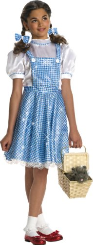 Wizard of Oz Child's Deluxe Sequin Dorothy Costume, Small