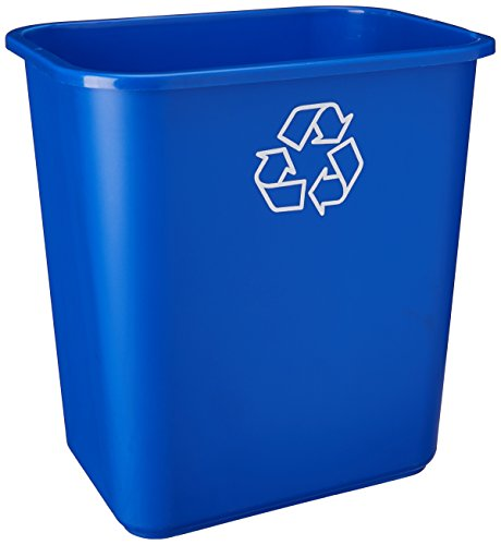 United Solutions EcoSense WB0084 Blue Twenty Eight Quart Recycling Wastebasket - 28QT Recycling Bin in Blue
