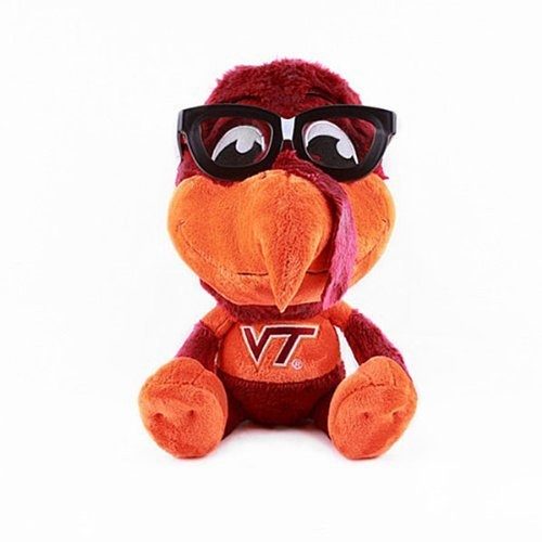 NCAA Virginia Tech Hokies Study Buddy Plush Toy, Medium, Orange by Fabrique Innovations by Fabrique Innovations