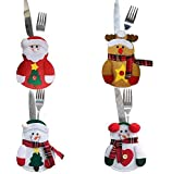 Christmas Decorations bag Candy bag Christmas Gift bag Cutlery bag-4pcs
