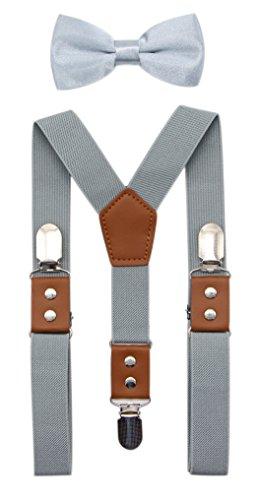 JAIFEI Suspender & Bowtie Set For Men, Teens