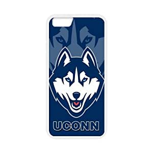 Custom UCONN Husky NCAA Apple Iphone 6 4.7 inches Laser Technology Case Cover phone Cases Covers by mcsharks