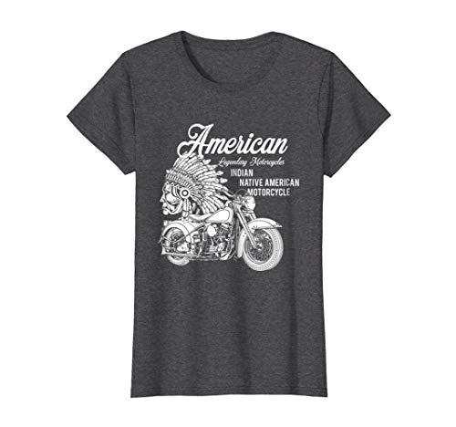 Womens Motorcycle Indian T-shirt Large Dark Heather -