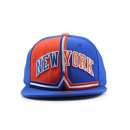 New York Knicks Shorts Split Snapback Adjustable Hat NBA Hardwood Classic