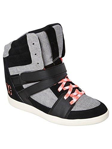 DC Women's Mirage Mid Sneaker,Black/Goji,8 M US