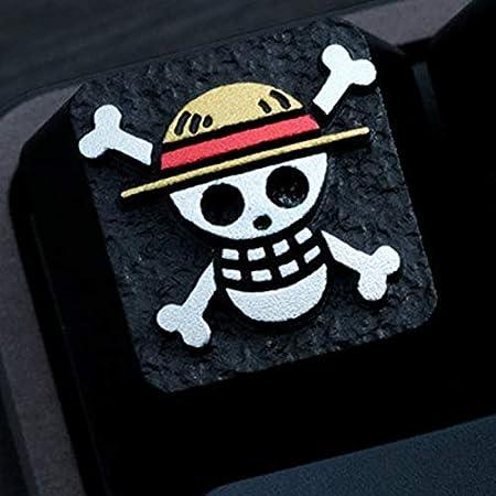 One Piece Monkey D Luffy Straw Hat Pirates Metal 3D Cherry MX Mechanical Keyboard Keycaps