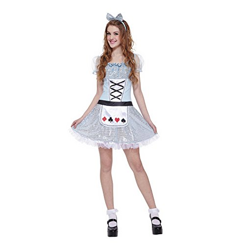 Miss Wonderland Costumes (Totally Ghoul Miss Wonderland Costume, Teen, One Size Fits Most)