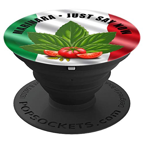Marinara Just Say Now Basil and Tomatoes - PopSockets Grip and Stand for Phones and Tablets