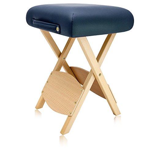 Dr lomilomi Wooden Folding Massage Stool 511 (Queen blue