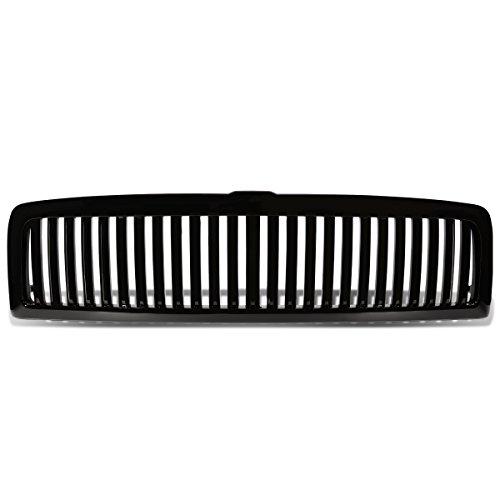 For Dodge Ram 1500/2500/3500 ABS Plastic Vertical Front Grille (Black) - 2nd Gen BR/BE