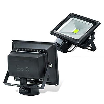 2pack 50W PIR LED Flood Light White White Motion Sensor Floodlight Garden