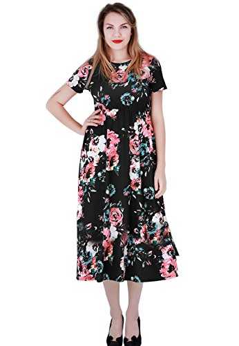 Black Sleeves With Dresses Party Women's Short OMZIN Dress Midi nW8R4vcxqw