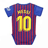 FOOT-ACC Fc Barcelona #10 Messi Soccer Club Cotton Bobysuit Onesie Baby Suit for Romper Infant & Toddler