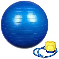 COBRA Exercise Non-Slip Stability Anti Burst Yoga Ball (75 cm with Pump .Purple, Blue,Green)
