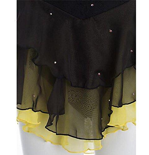 Elastene Per 14 Ghiaccio Da Pattinaggio Scbrr Sul Artistico Vestito Black Completo Ragazza Donna Unita Xinyuanjiafang Tendenza Di Tinta Nero nqp7WXxn