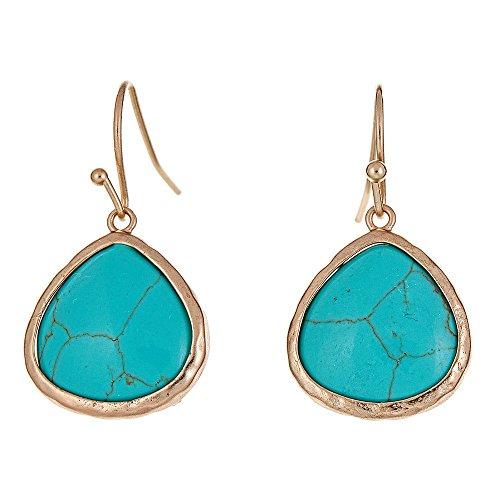 Turquoise Stone Drop - 2
