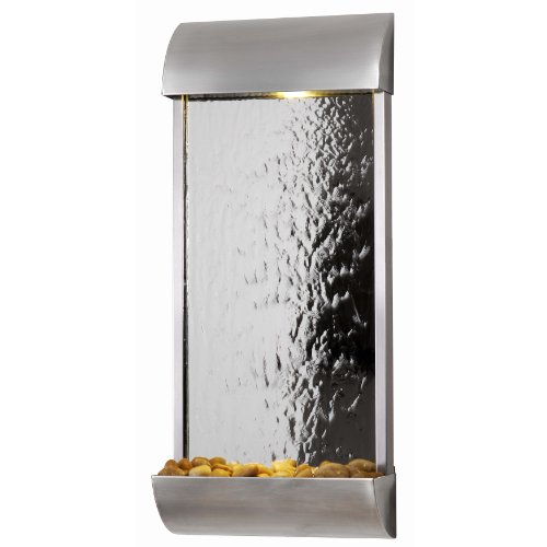 Kenroy Home 50052STST Waterville Wall Fountain, Stainless Steel Finish with Mirrored (Wall Fountain Pumps)