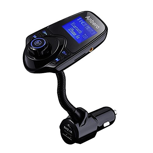anbero wireless in car bluetooth fm transmitter adapter. Black Bedroom Furniture Sets. Home Design Ideas