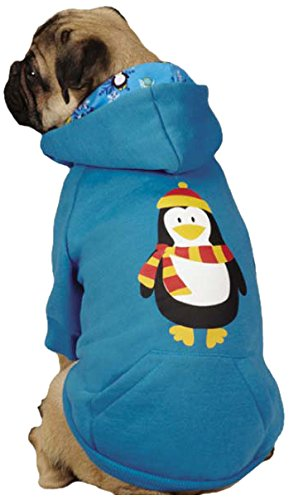 Casual Canine Polyester/Cotton North Pole Pals Dog Hoodie, X-Small, Penguin