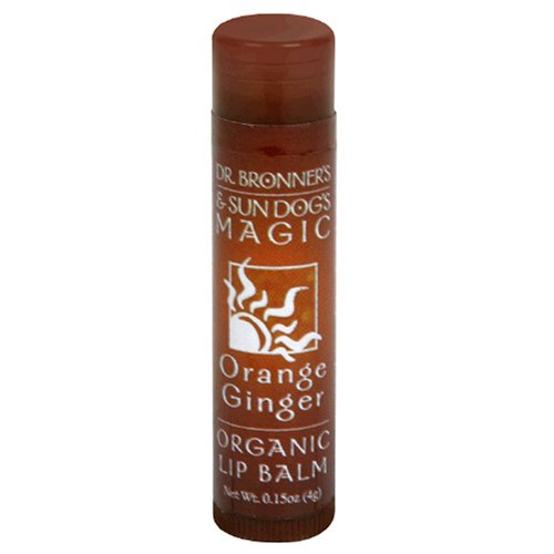 Dr. Bronner's & Sun Dog's Magic Organic Lip Balm, Orange Ginger, 0.15-Ounce - Organic Balm Magic Bronners