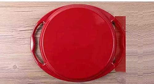 Poêle à frire émaillée en steak émaillé, plateau à barbecue rayé universel pour réchaud barbecue, adapté à la cuisine à domicile 25CM