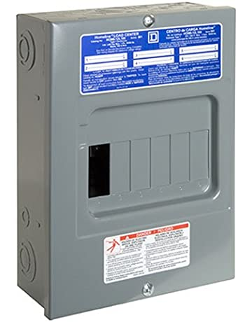 square d by schneider electric hom612l100scp homeline 100 amp 6-space 12- circuit indoor