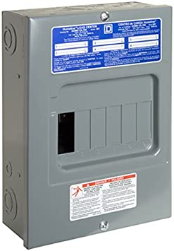 Main Lug Load Center 100 Amp 6-Space 12-Circuit Indoor with Surface Mount Cover