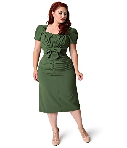 Stop Staring! Plus Size Olive Short Sleeve Verde Wiggle Dress ...