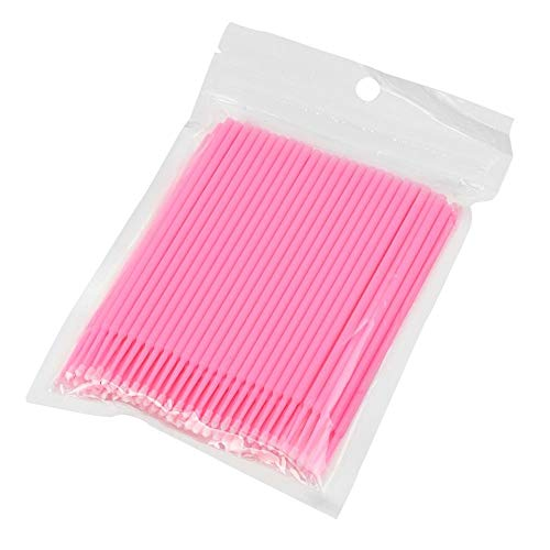 Yooiy Disposable Micro Applicator Brushes for Eyelash Extensions Tattoo 100 Pcs