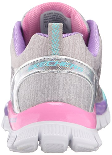 Skechers Appeal Surprise N'Shine, Baskets Basses Fille, Argent, 38 EU