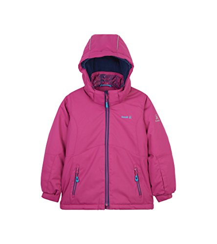 Kamik Winter Apparel Girls Maeve Solid Insulated Jacket, Pink, 12