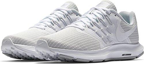 NIKE Women's Run Swift Running Shoe (5, White)