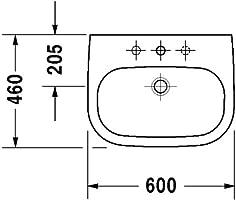 Beliebt Duravit Waschbecken D-Code 60cm weiss, 2310600000: Amazon.de: Baumarkt BG53