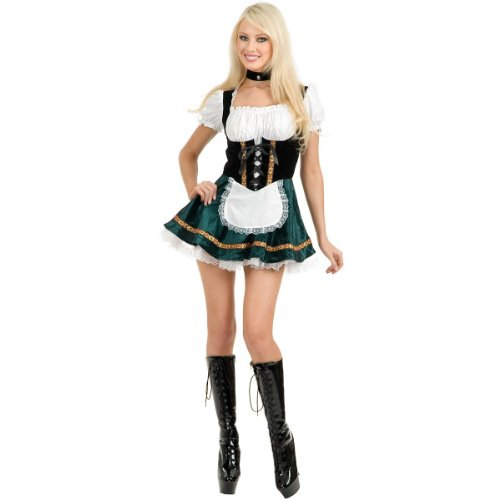 Beer Garden Girl Adult Costume Green - Small -