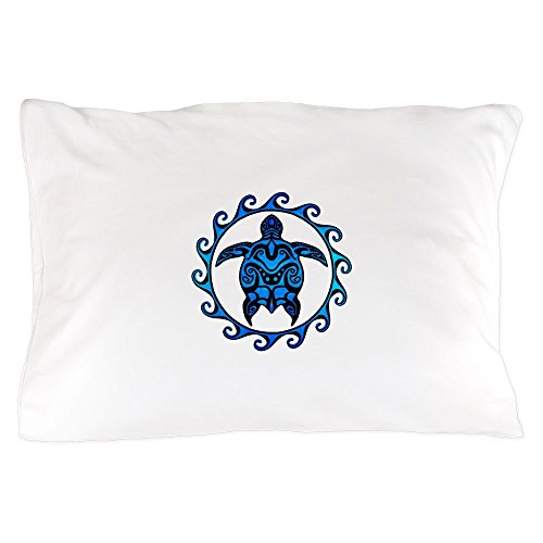 CafePress - Maori Tribal Blue Turtle - Standard Size Pillow Case, 20''x30'' Pillow Cover, Unique Pillow Slip by CafePress
