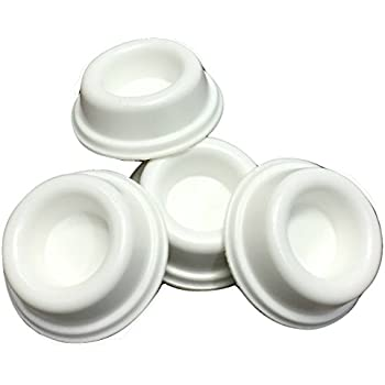 Rubber Door Stopper Bumpers (Pack Of 4) White   Made In USA   Self