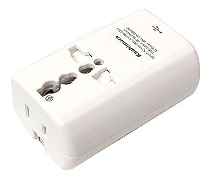 海外旅行用 2口マルチ変換プラグ A/C/O/SE/BFタイプ USB2.1A NTI-165