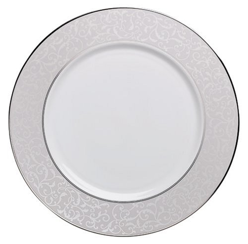 Gray Round Platter - Mikasa Parchment Round Serving Platter, 12-Inch
