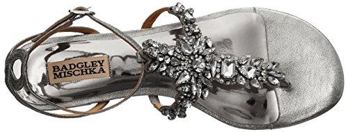 Badgley Mischka Women's Cara Ii Dress Sandal, Silver Silver