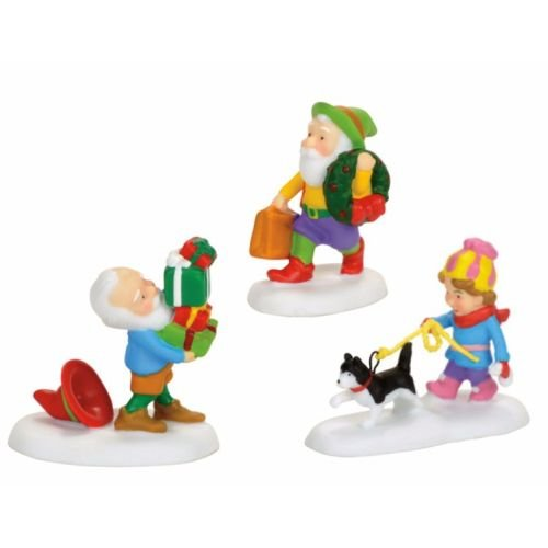 Holiday Elves (Department 56 North Pole Village Holiday Elves Accessory Figurine, Multicolor)