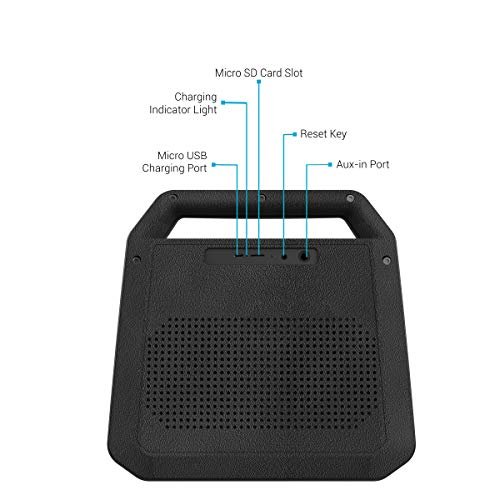 Portronics Roar POR-549, 2x12W Bluetooth 4.2 Stereo Speaker with TWS, Aux in, Micro SD Card and 6, 000mAh Battery, Black