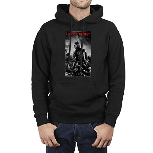 (Male Hooded Sweatshirt Sons-of-Anarchy-Jax-Motorcycle-Club-White-Black- Fleece Long Sleeve)