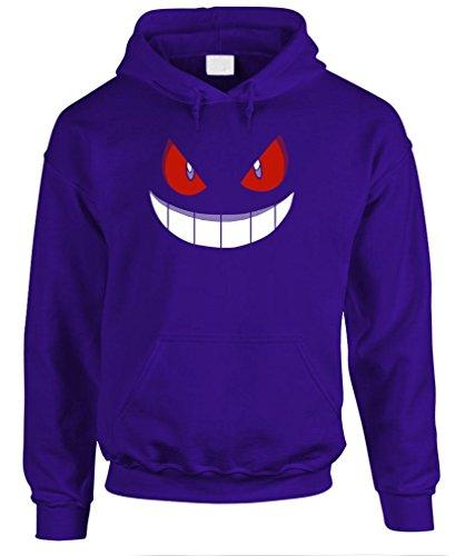 GENGAR HALLOWEEN FACE - costume funny Pullover Hoodie, L, Purple
