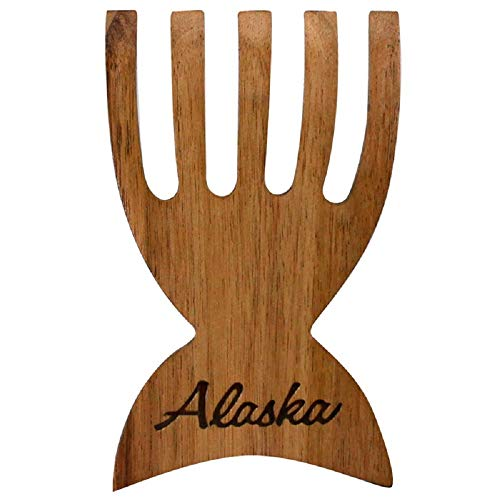 - Alaska Acacia Wood Whale Tail Salad and Pasta Servers Claws