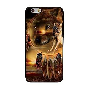 """For iPhone 6 Case, Fashion Wolf Pattern Protective Hard Phone Cover Skin Case For iPhone 6 (4.7"""") + Screen Protector"""
