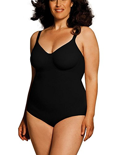 Body Wrap Full Figure Pin Up Black Underwired Bodysuit (6X-24/26, Black) The Body Wrap Full Figure Wrap